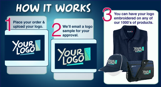 Logo Work Shirts fast and easy