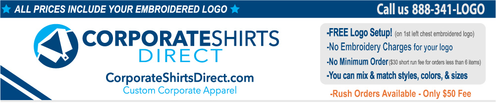 Custom Embroidered Shirts & Accessories for Men & Women | Corporate Shirts Direct